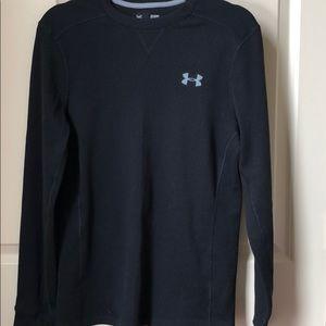 Under armour waffle knit long sleeve tee shirt